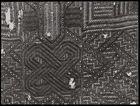 close up of piece of rafia cloth