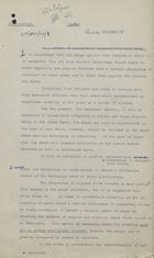 Draft of Circular Letter from Ministry of Food, London, re: Regular Counting of Ration Coupons, April 1940
