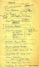 Agenda, CS-West, March 15, 1978