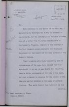 Memo from F. W. Campbell to Under Secretary of State, Colonial Office, re: Four Thousand Pounds Granted by Nicaraguan Government to the Late Ex-Chief of the Mosquito Indians, July 21, 1908