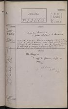 Correspondence Cover Sheet re: Consular Invoices on Goods Shipped to Panama, April 11, 1905