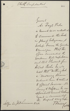 Letter from T. Fraser to Lt. Gen. Sir J. L. A. Simmons