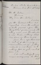 Copy of Letter from Fitzhugh Lee to Alexander Gollan re: William Gildea Case, February 10, 1897