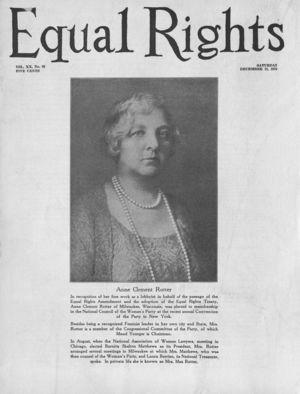 Equal Rights, Vol. 20, no. 46, December 15, 1934