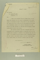 Memo from Benedict Crowell to the Secretary of Labor, October 8, 1918