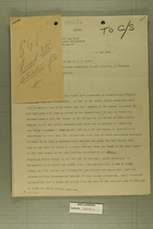 Cables Sent to Florence Concerning French Situation in Piedmont, May 15, 1945