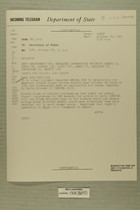 Telegram from Ivan B. White in Tel Aviv to Secretary of State, Oct. 28, 1955