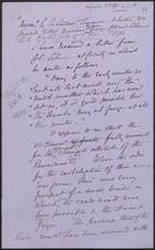 Memo by Sir Lintorn Simmons Relative to a Private Letter Received by Him from Colonel Siborne
