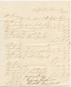 Account for school fees to Mrs. Borrow from Miss Mountford and the Misses Holmes, Litchfield, December 1, 1838