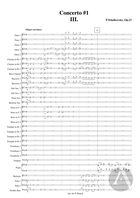 Piano Concerto No. 1, arranged for Piano and Symphonic Band: Movement 3, Op. 23, B Flat Minor