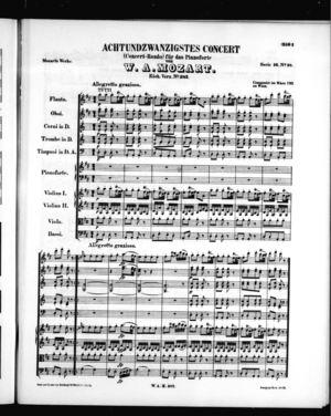 Achtundzwanzugstes Concert für das Pianoforte