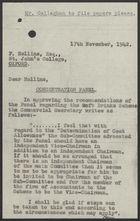 Letter to Frank Hollins re: Soft Drinks Concentration Scheme, November 17, 1942