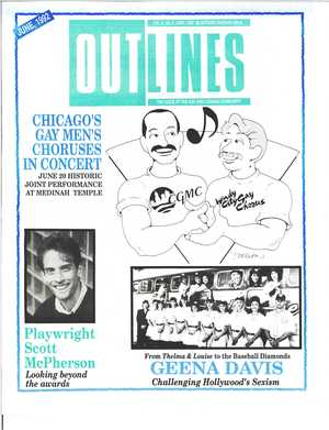 OUTLINES THE VOICE OF THE GAY AND LESBIAN COMMUNITY VOL 6, No. 1, JUNE, 1992