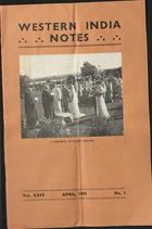 Western India Notes, Vol. 24, No. 1, April 1943
