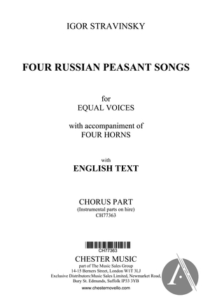 Four Russian Peasant Songs