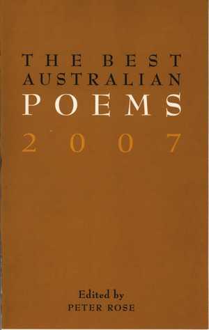 THE BEST AUSTRALIAN POEMS 2007