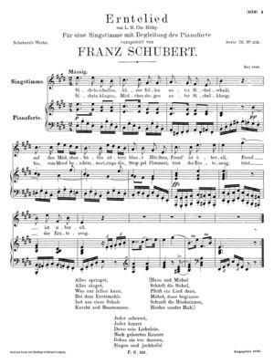 Erntelied von L.H. Chr. Hölty, D. 434, E Major