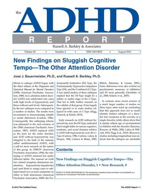 ADHD Report, Volume 20, Number 04, August 2012