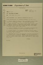 Telegram from Francis H. Russell in Tel Aviv to Secretary of State, April 28, 1954