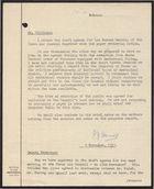 Correspondence between P. J. Harrop and S.G.G. Wilkinson, November, 1957