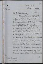 Copy of Letter from Francis Clare Ford to Señor Moret re: Application of 1886 Convention to Colonies, February 2, 1887