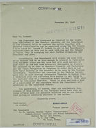 Letter from Norman Armour to L. M. Lawson, November 28, 1947, with Enclosed Memo from Walter Thurston to Mr. Armour, October 2, re: Chamizal Settlement