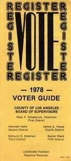 1978 Voter Guide