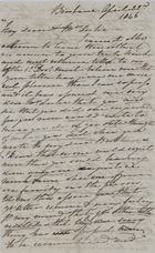 Letter from Kate MacArthur Leslie to Jane Davidson Leslie, April 22, 1846