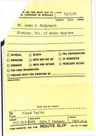 Routing Slip from Floyd Taylor to James H. McDermott, October 7, 1971
