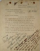 Letter from British Legation to Chester Harding, November 20, 1917