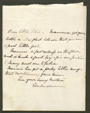Letter from Edie Anderson to Edith Thompson, undated