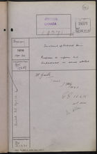 Correspondence Cover Sheet re: Treatment of Richard Hein, Prisoner of War, April 24, 1916