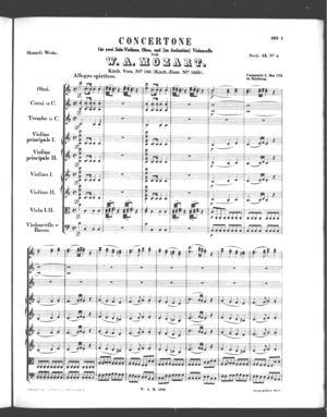 Concertone, K. 190, C Major