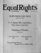 Equal Rights, Vol. 01, no. 01, February  17, 1923