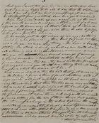 Incomplete Letter from Patrick Leslie, December 5, 1845