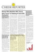 Cheese Reporter, Vol. 138, No. 13, Friday, September 20, 2013