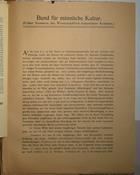 Magnus Hirschfeld Scrapbook: Bund für männliche Kultur