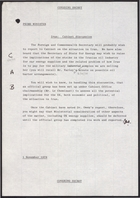 Briefing Notes from Secretary of State for Energy to Prime Minister re: Oil Supplies from Iran, November 1, 1978
