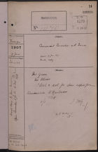 Correspondence Cover Sheet re: Commercial Convention with France, Janauary 9, 1907
