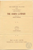 Playbill for the premiere of The Amen Corner by James Baldwin