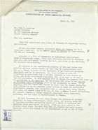 Letter from Charles O'Neill to John T. Lassiter re: Publication subscriptions, March 31, 1943
