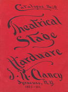 Catalogue of Theatrical Stage Hardware, no. 19
