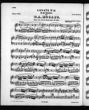 Sonata No. 12 für Pianoforte