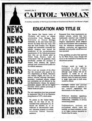 Capitol: Woman, vol. 2 no. 2, June 1974