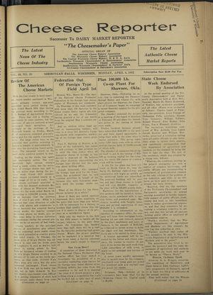 Cheese Reporter, Vol. 56, no. 30, April 4, 1932