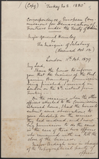 [Copy of ] Letter from R. B. Hawley to the Marquis of Salisbury, Oct. 11, 1879
