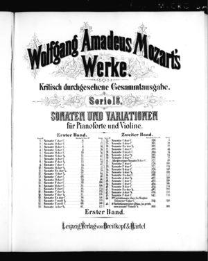 Sonate No. 1 für Pianoforte und Violine