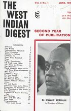West Indian Digest, June 1972 Vol. 2, No. 1, The West Indian Digest, June 1972 Vol. 2, No. 1