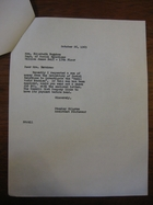 Stanley Milgram to Elizabeth Burnham, October 26, 1965