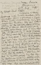 Letter from Jessie Love to Maggie Jack, August 21, 1897